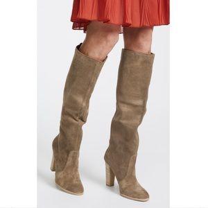 Dolce vita Celine khaki suede knee high boots 6